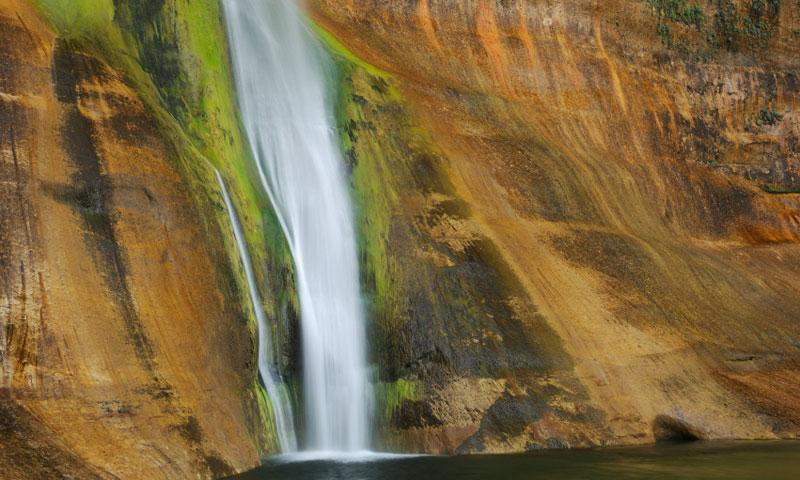 Waterfalls in Calf Creek Canyon