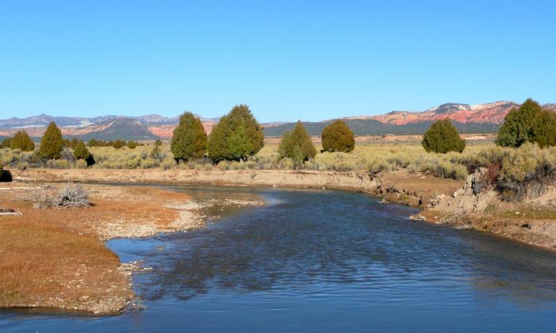 Sevier River in Southern Utah