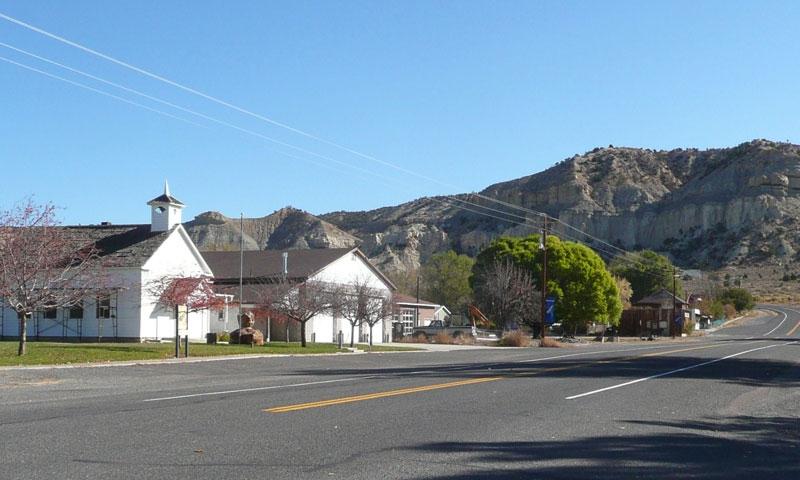 Driving through Henrieville Utah