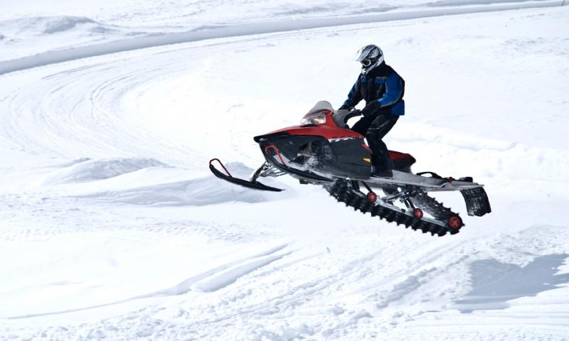 Snowmobiling Jump