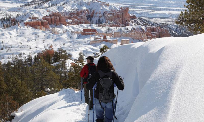 Snowshoeing in Bryce Canyon National Park