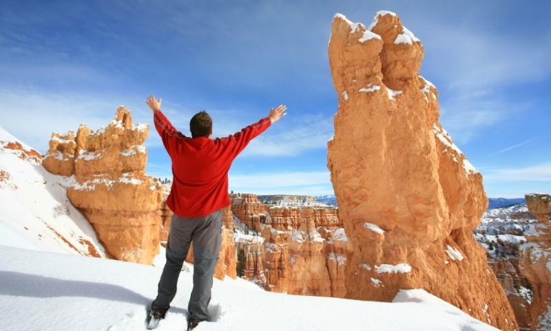 Bryce Canyon National Park Utah Local Guide Hiking Winter Snow Snowshoeing